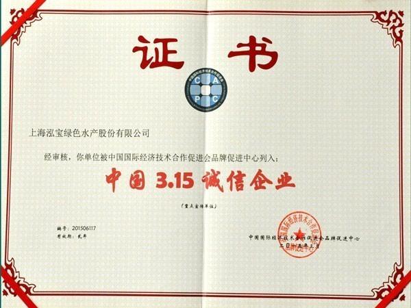 泓宝-2015中国315诚信企业