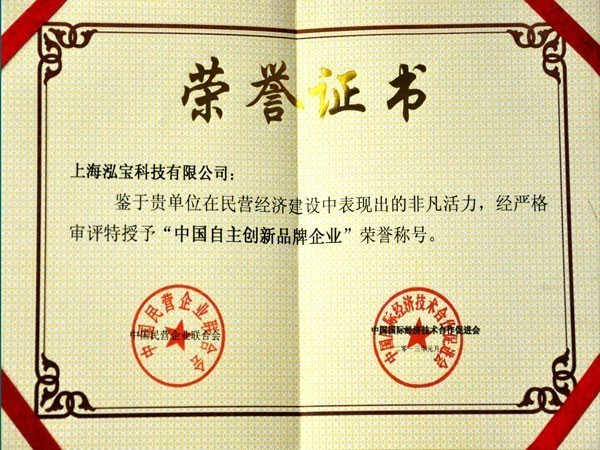 泓宝-2013中国自主创新品牌企业