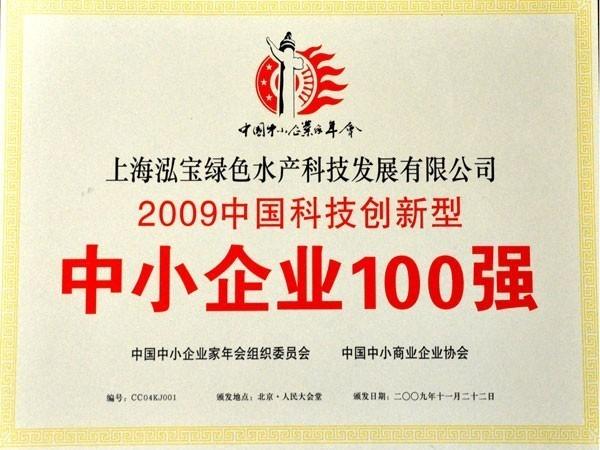 泓宝-2009年中国科技创新型中小企业100强